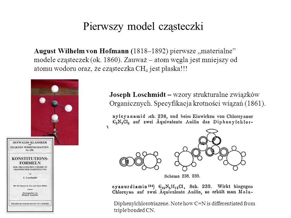 Pierwszy model cząsteczki