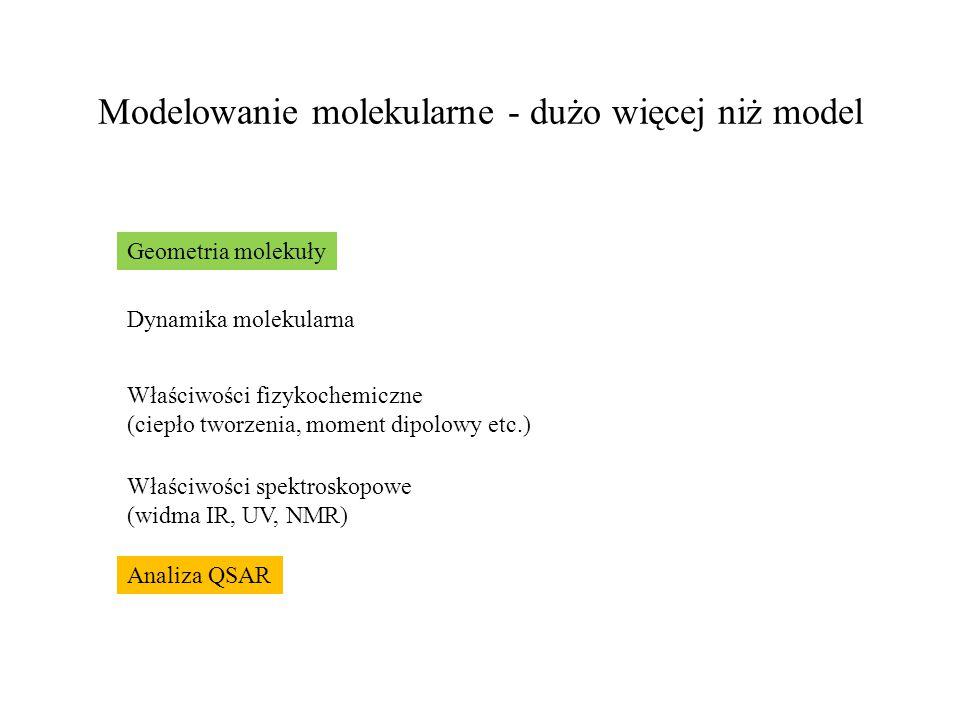 Modelowanie molekularne - dużo więcej niż model
