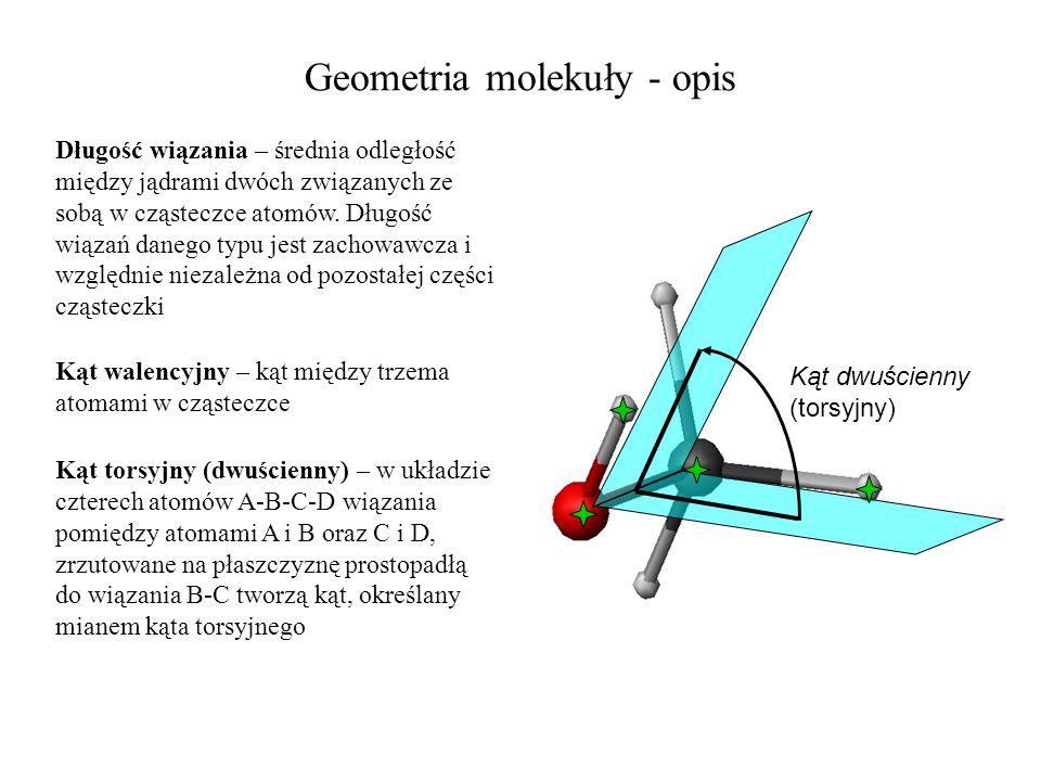 Geometria molekuły - opis