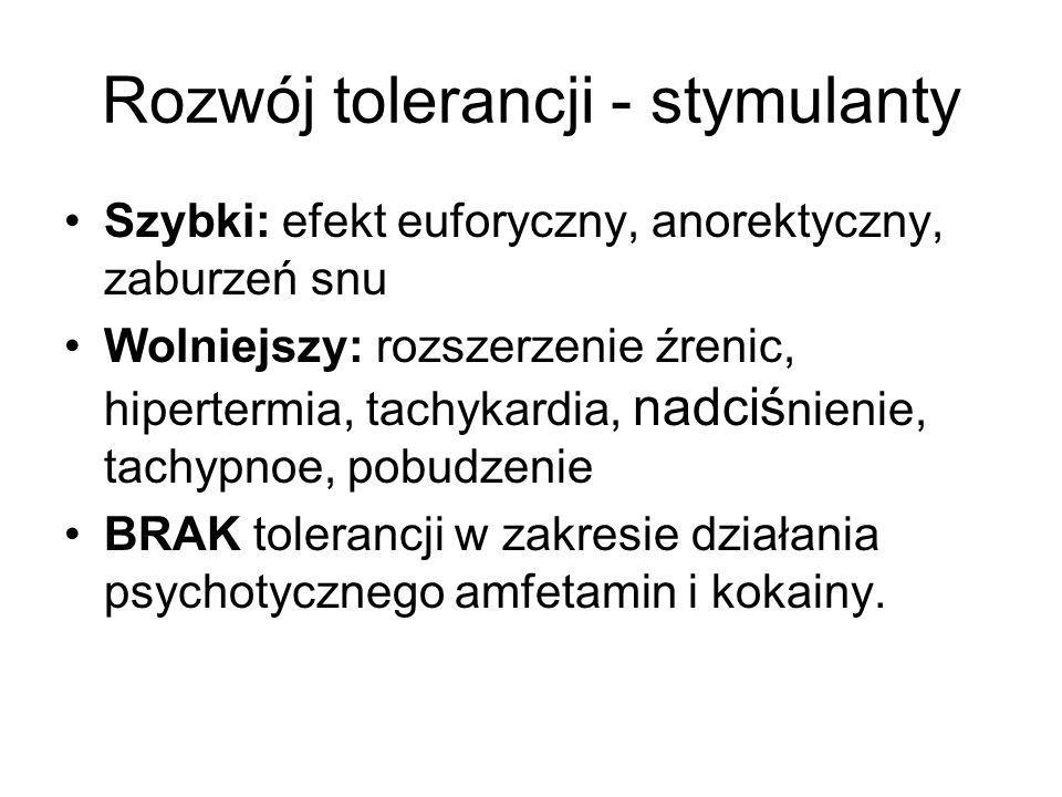 Rozwój tolerancji - stymulanty