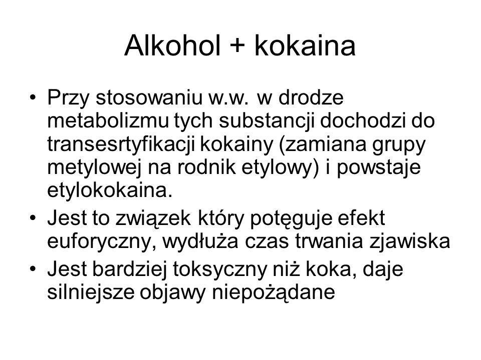 Alkohol + kokaina