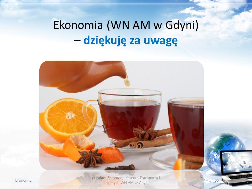 Ekonomia (WN AM w Gdyni) – dziękuję za uwagę