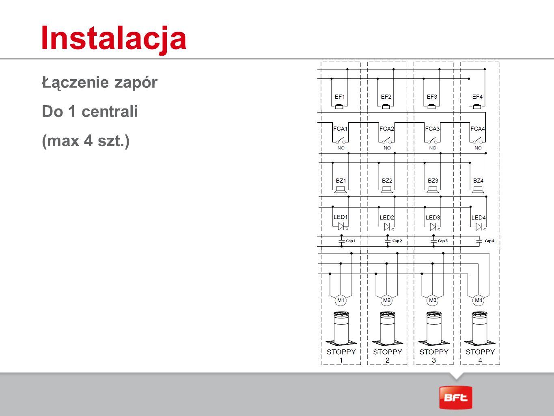 Instalacja Łączenie zapór Do 1 centrali (max 4 szt.)