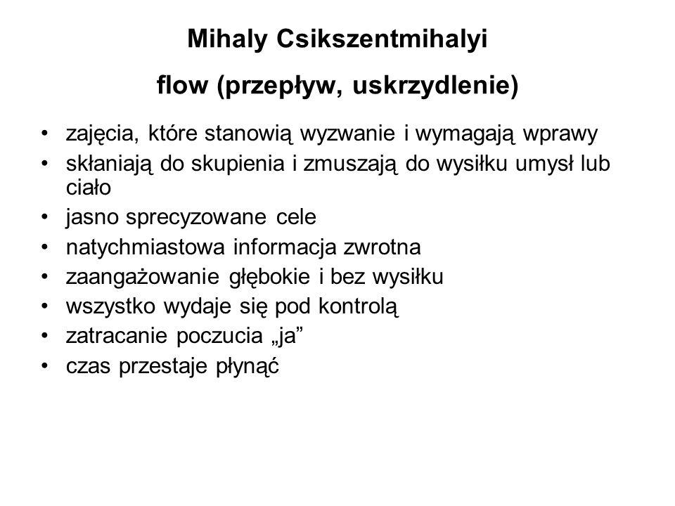 Mihaly Csikszentmihalyi flow (przepływ, uskrzydlenie)