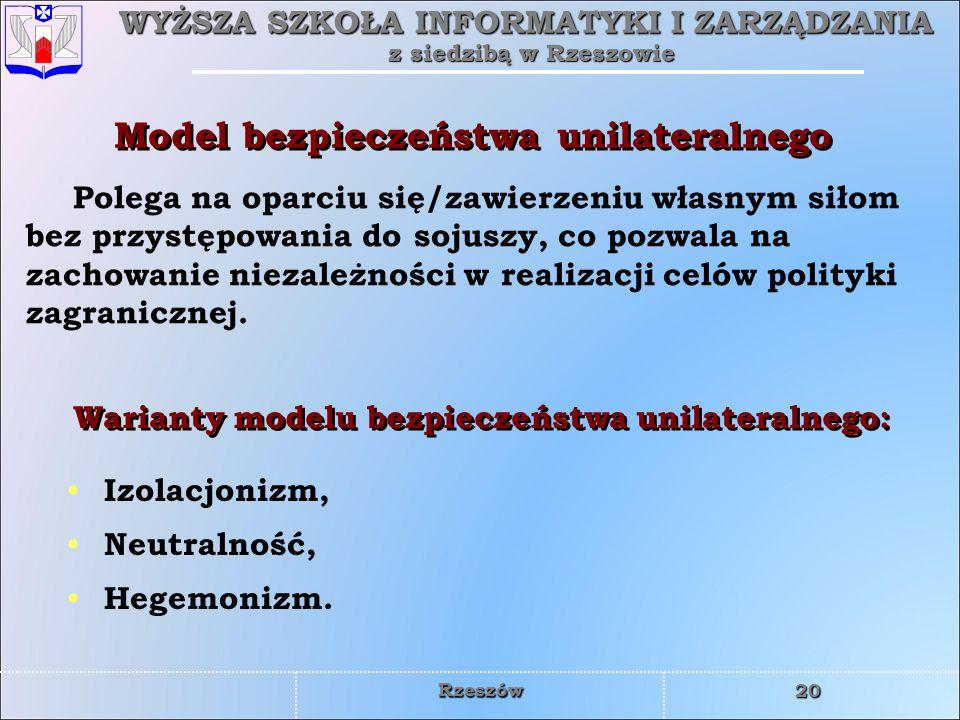 Model bezpieczeństwa unilateralnego