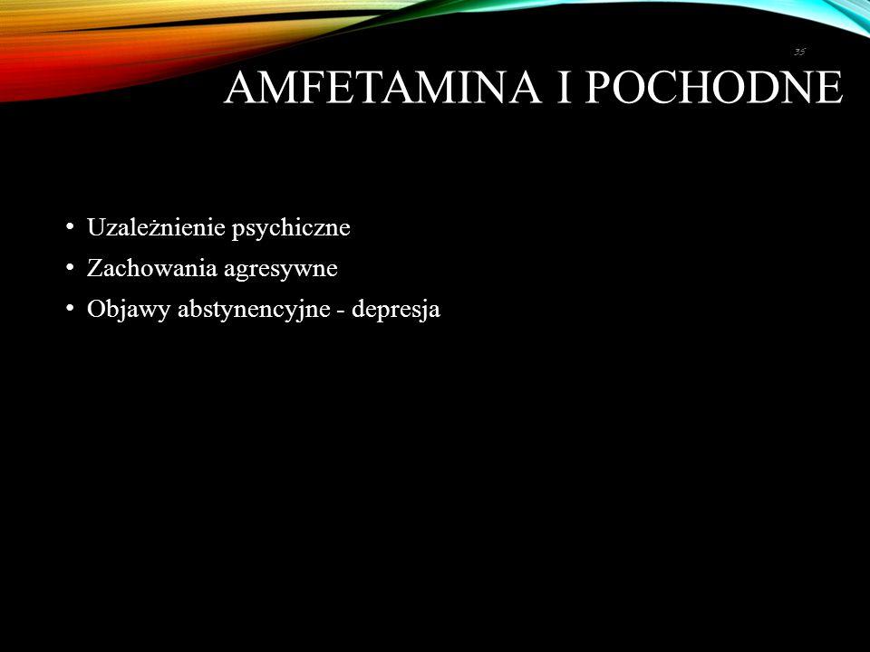 Amfetamina i pochodne Uzależnienie psychiczne Zachowania agresywne