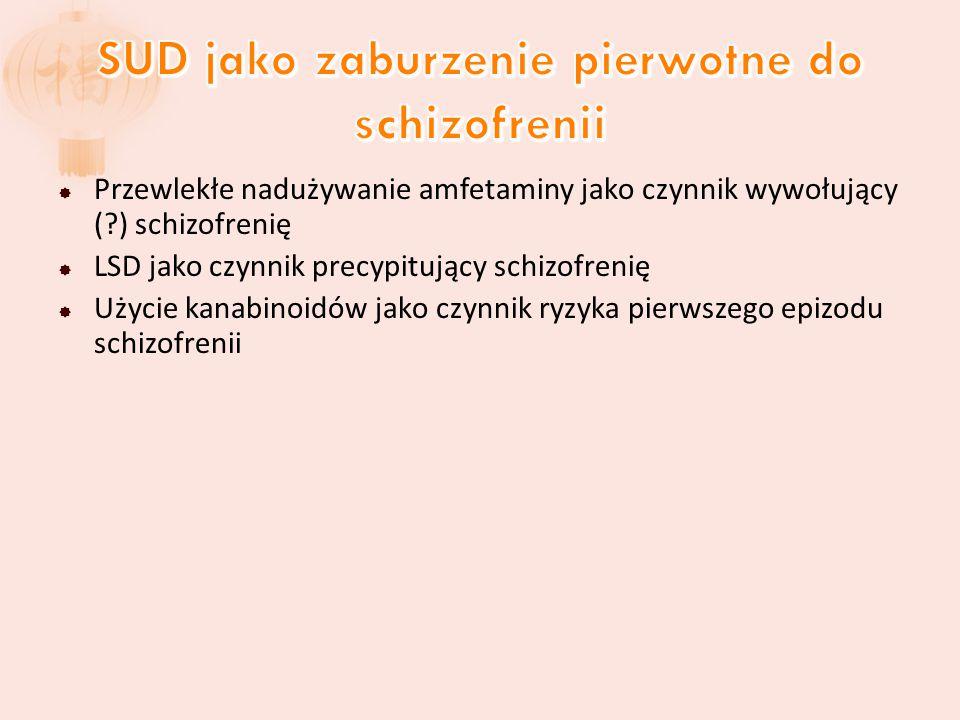 SUD jako zaburzenie pierwotne do schizofrenii