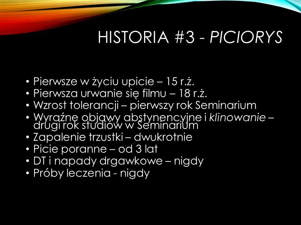Historia #3 - piciorys Pierwsze w życiu upicie – 15 r.ż.