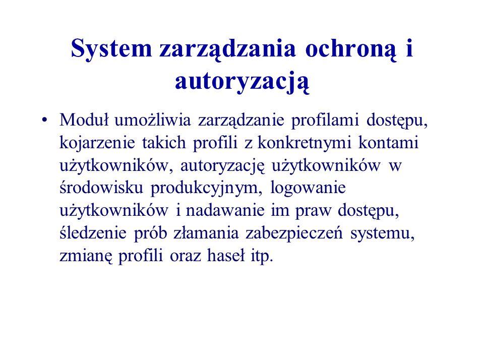 System zarządzania ochroną i autoryzacją