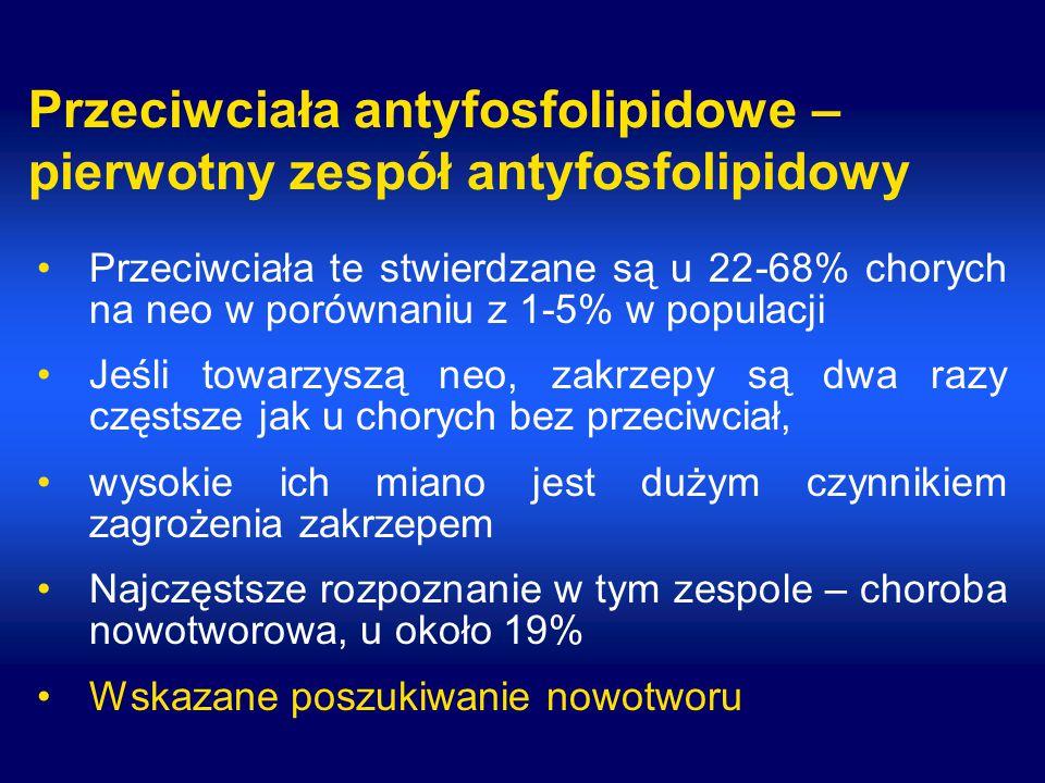 Przeciwciała antyfosfolipidowe – pierwotny zespół antyfosfolipidowy