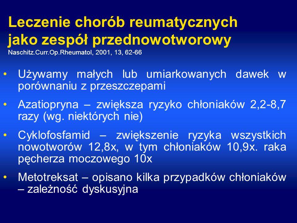 Leczenie chorób reumatycznych jako zespół przednowotworowy Naschitz