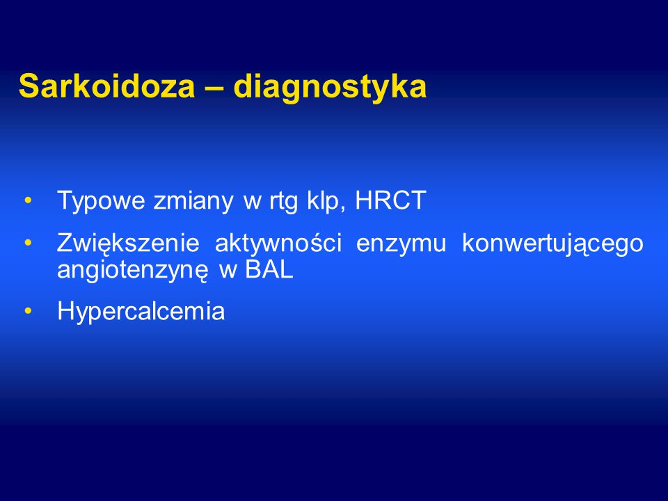 Sarkoidoza – diagnostyka