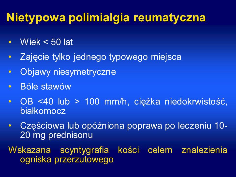 Nietypowa polimialgia reumatyczna