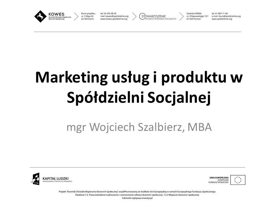 Marketing usług i produktu w Spółdzielni Socjalnej