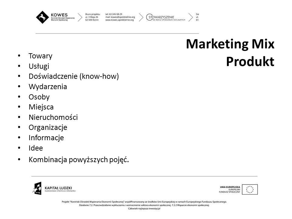 Marketing Mix Produkt Towary Usługi Doświadczenie (know-how)