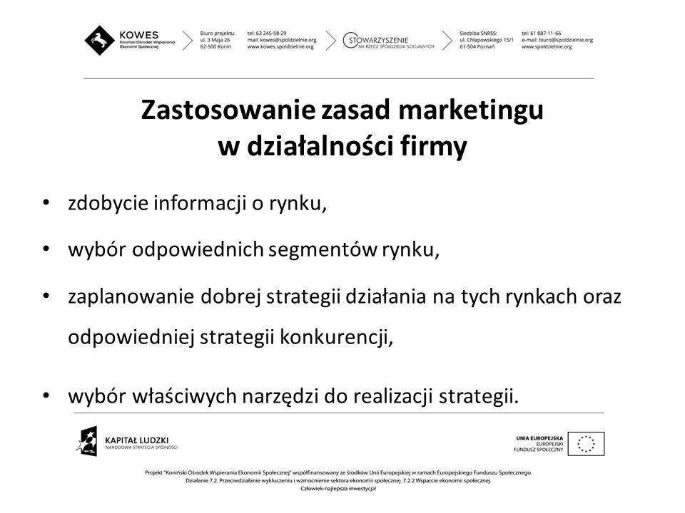 Zastosowanie zasad marketingu w działalności firmy