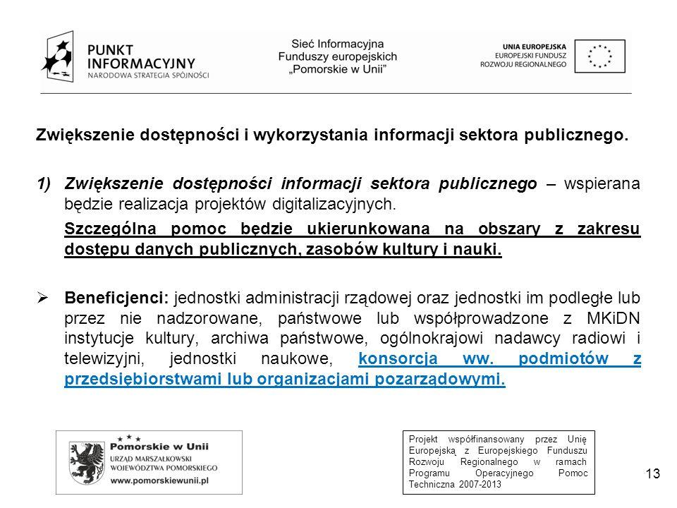 Zwiększenie dostępności i wykorzystania informacji sektora publicznego.