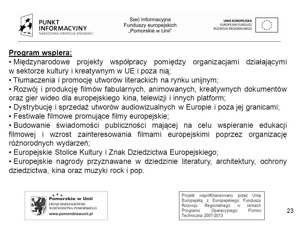 Tłumaczenia i promocję utworów literackich na rynku unijnym;