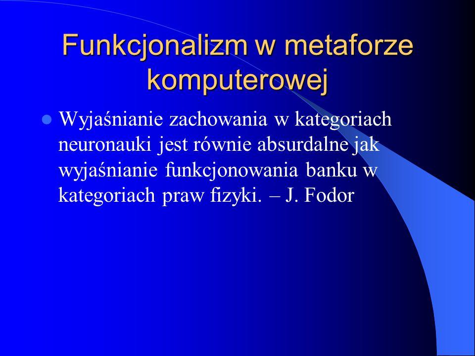 Funkcjonalizm w metaforze komputerowej