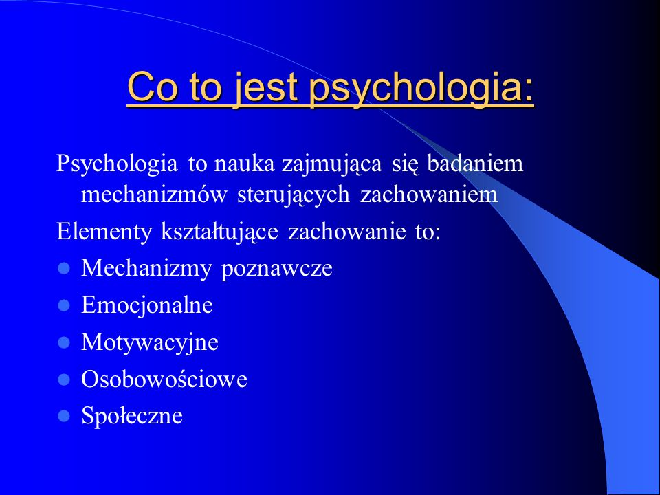 Co to jest psychologia: