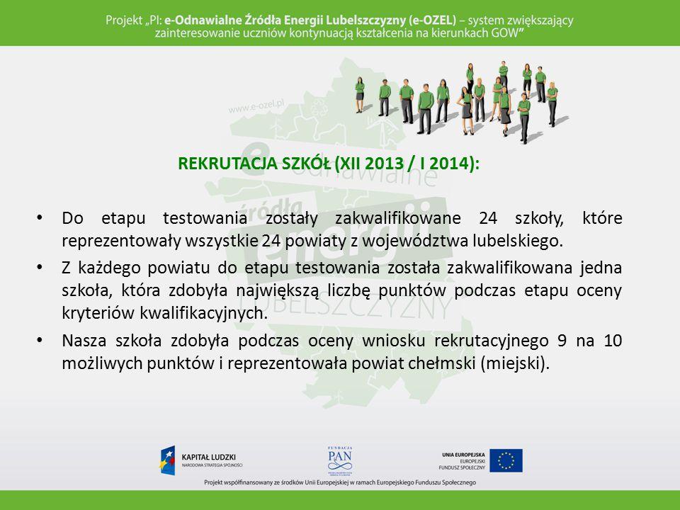 REKRUTACJA SZKÓŁ (XII 2013 / I 2014):