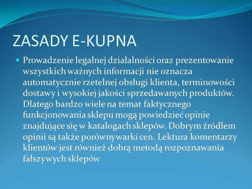 ZASADY E-KUPNA