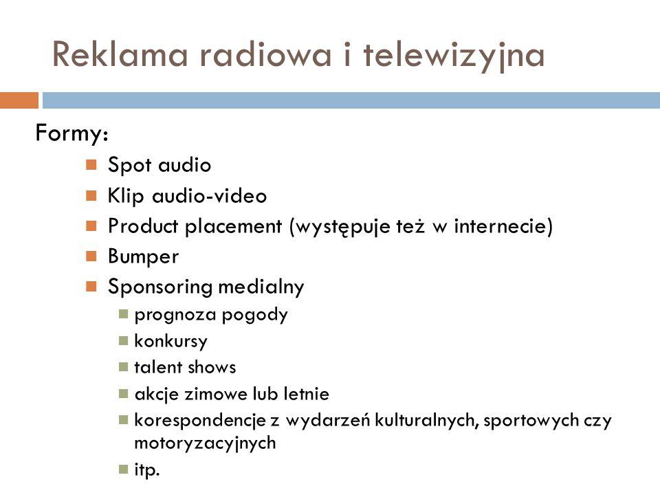 Reklama radiowa i telewizyjna
