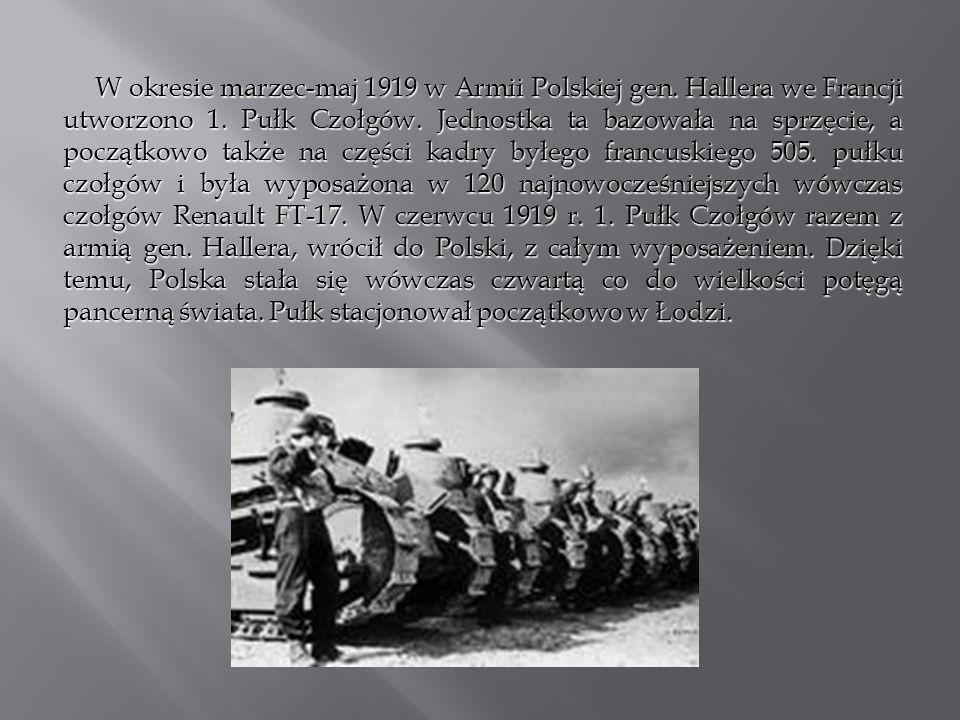 W okresie marzec-maj 1919 w Armii Polskiej gen