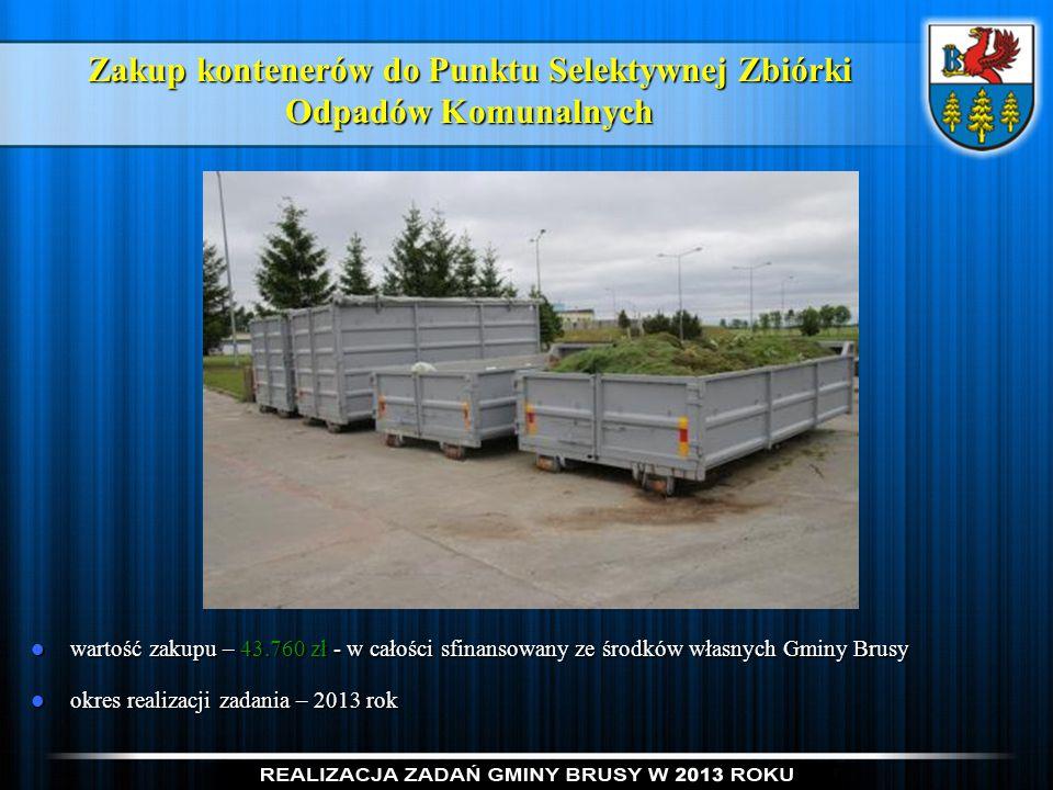Zakup kontenerów do Punktu Selektywnej Zbiórki Odpadów Komunalnych