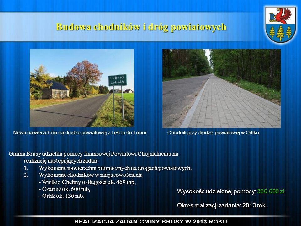 Budowa chodników i dróg powiatowych