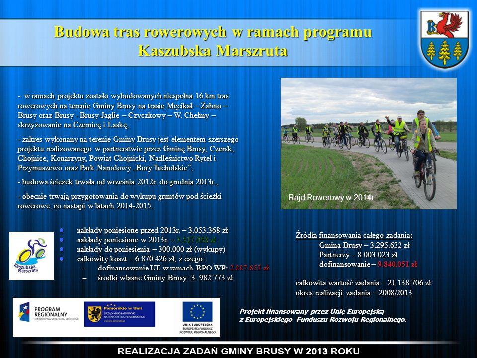 Budowa tras rowerowych w ramach programu Kaszubska Marszruta