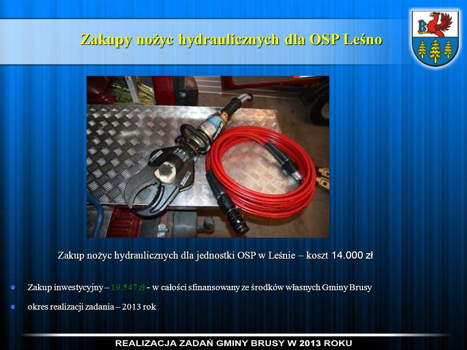 Zakupy nożyc hydraulicznych dla OSP Leśno