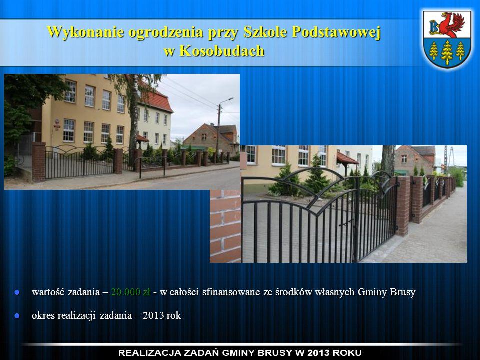 Wykonanie ogrodzenia przy Szkole Podstawowej w Kosobudach