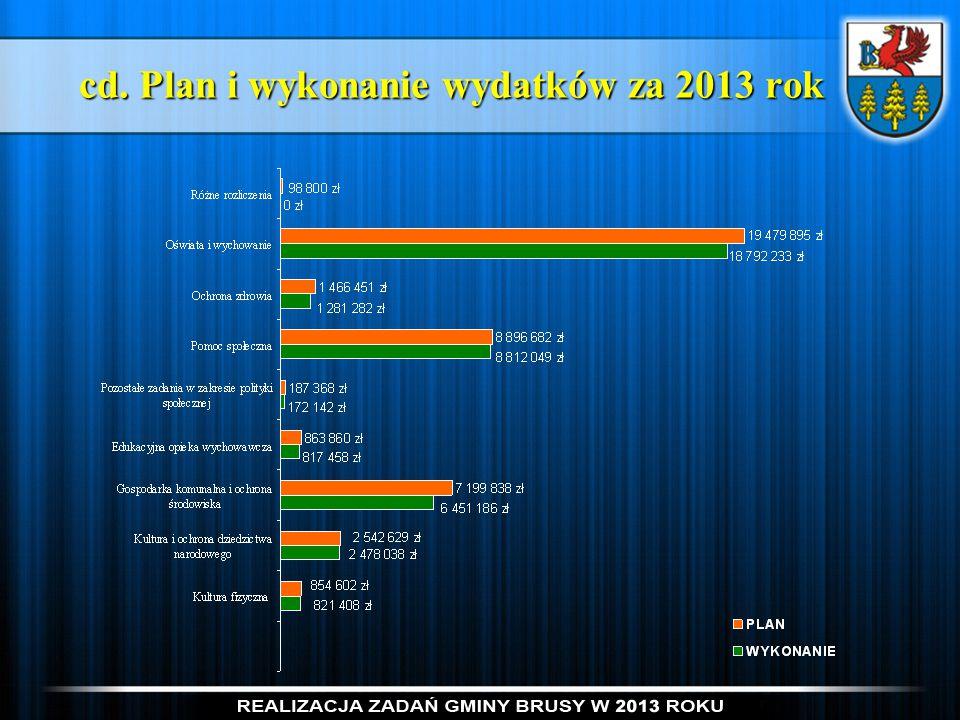 cd. Plan i wykonanie wydatków za 2013 rok