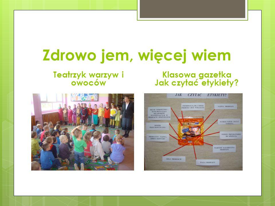 Teatrzyk warzyw i owoców Klasowa gazetka Jak czytać etykiety
