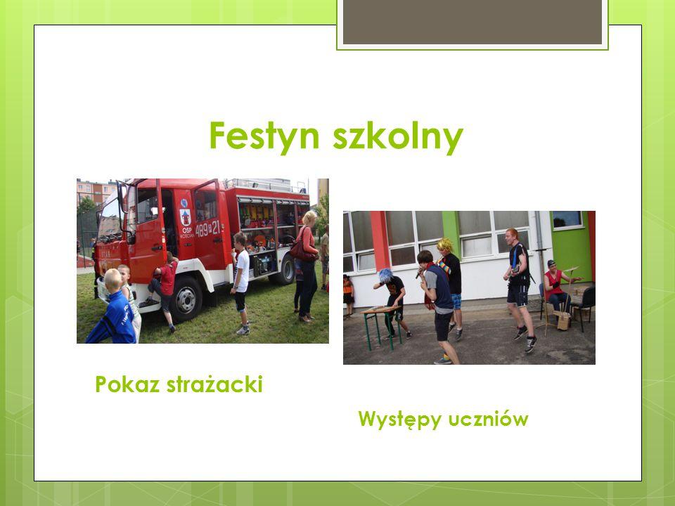 Festyn szkolny Pokaz strażacki Występy uczniów