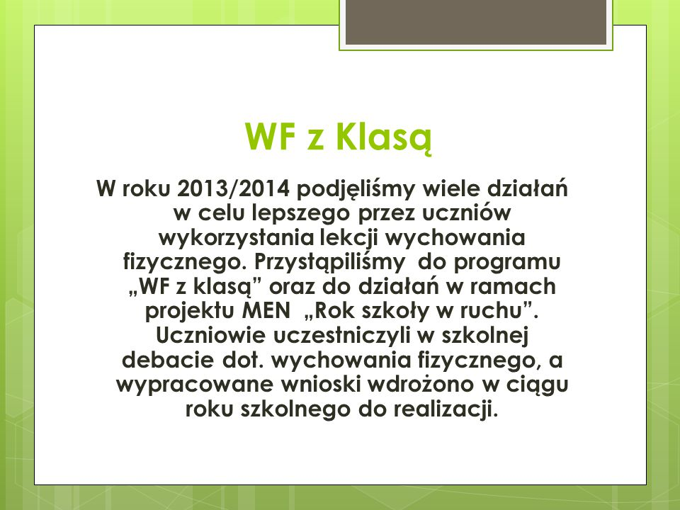 WF z Klasą