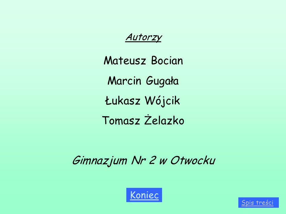 Mateusz Bocian Marcin Gugała Łukasz Wójcik Tomasz Żelazko