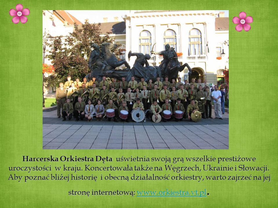 Harcerska Orkiestra Dęta uświetnia swoją grą wszelkie prestiżowe uroczystości w kraju.