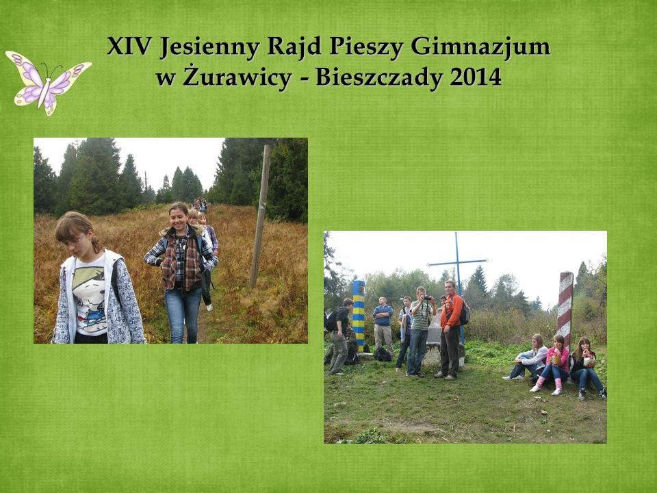 XIV Jesienny Rajd Pieszy Gimnazjum w Żurawicy - Bieszczady 2014
