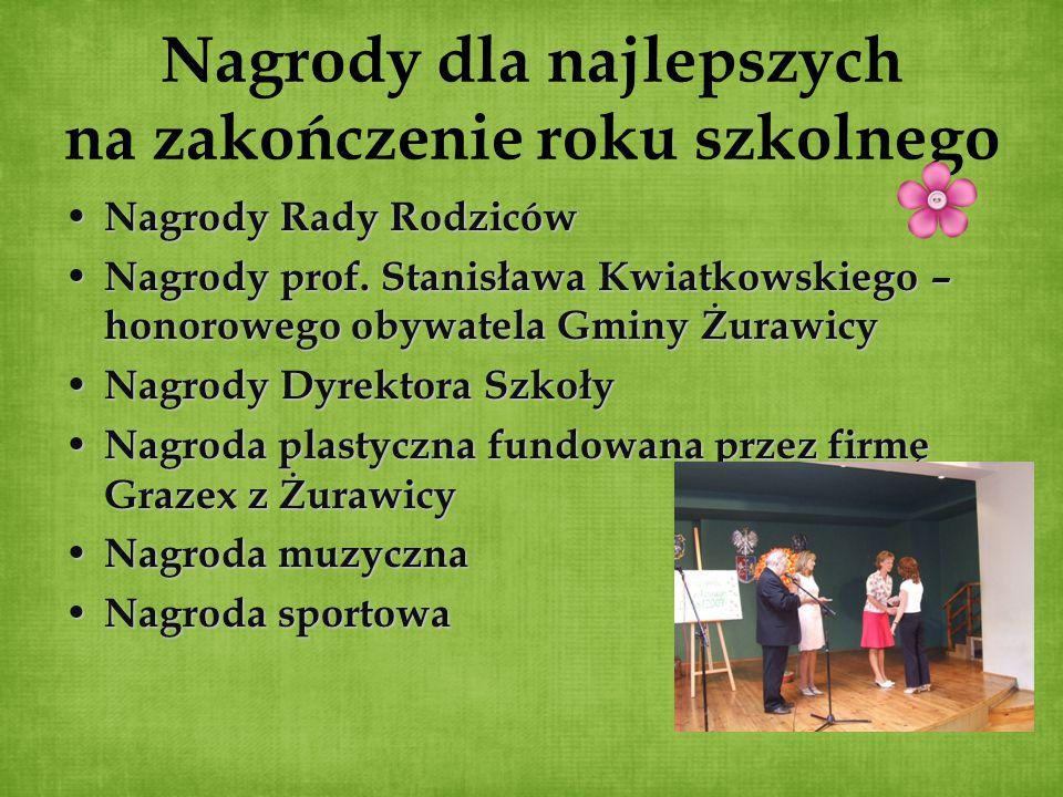 Nagrody dla najlepszych na zakończenie roku szkolnego