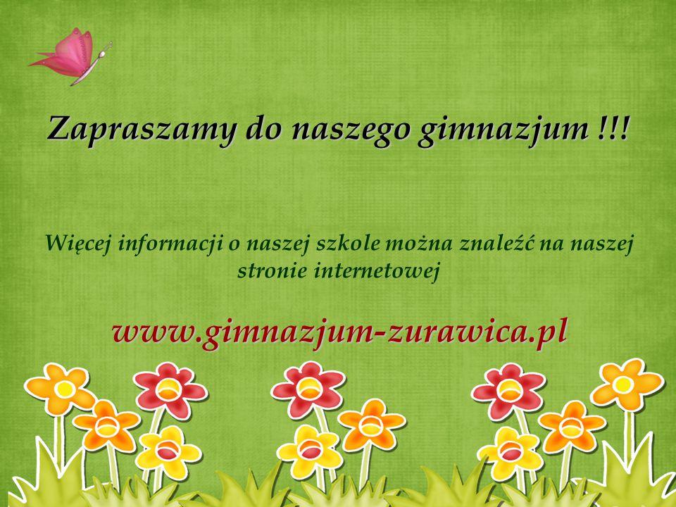 Zapraszamy do naszego gimnazjum !!!