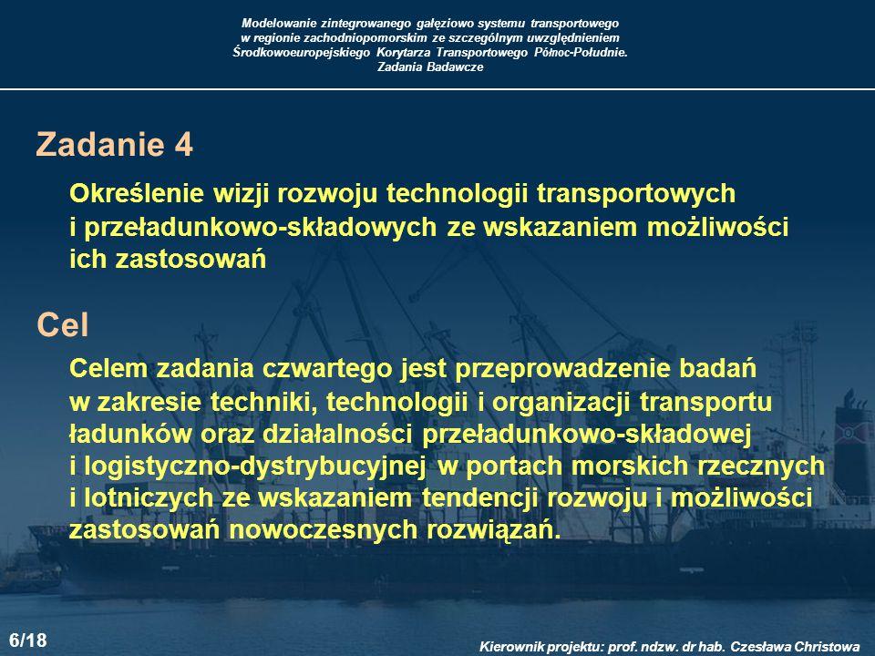Określenie wizji rozwoju technologii transportowych