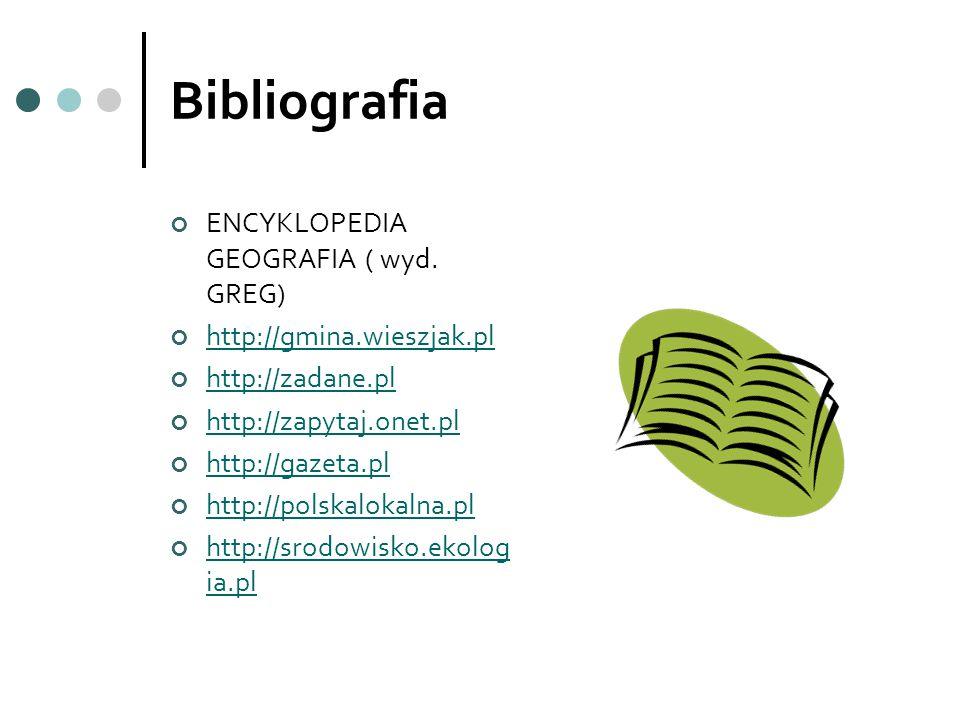 Bibliografia ENCYKLOPEDIA GEOGRAFIA ( wyd. GREG)