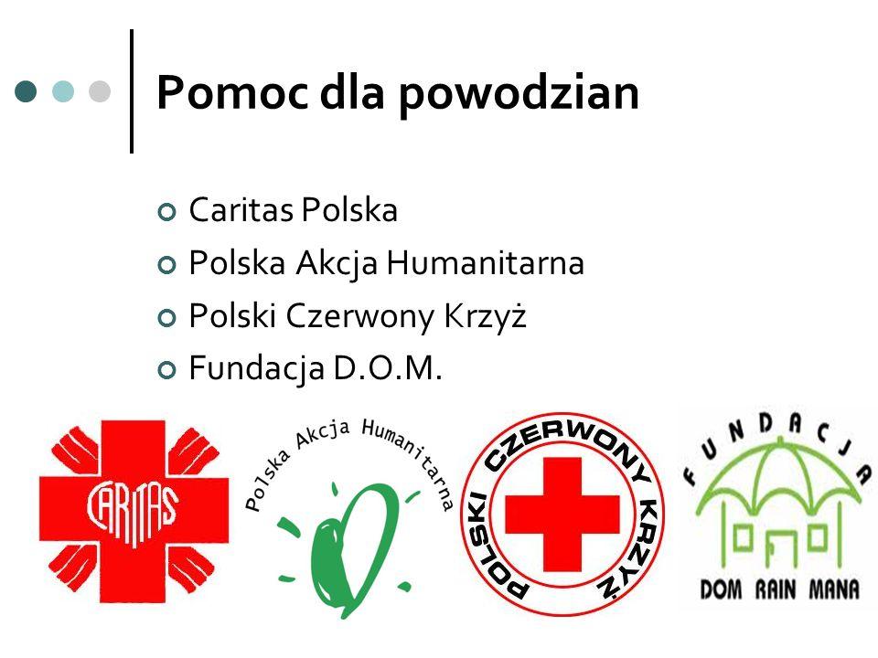 Pomoc dla powodzian Caritas Polska Polska Akcja Humanitarna