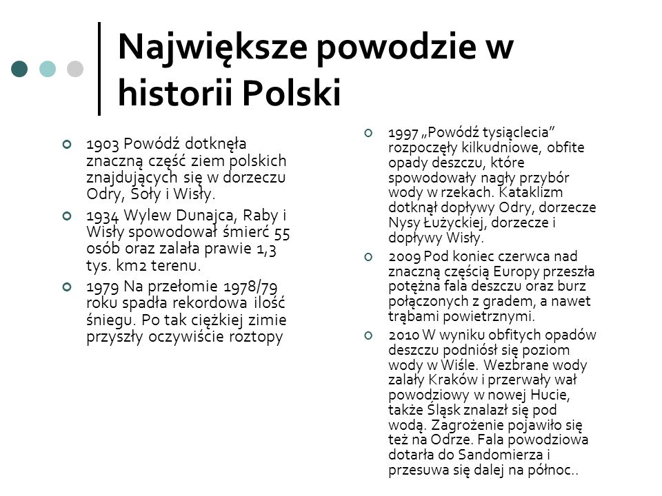 Największe powodzie w historii Polski