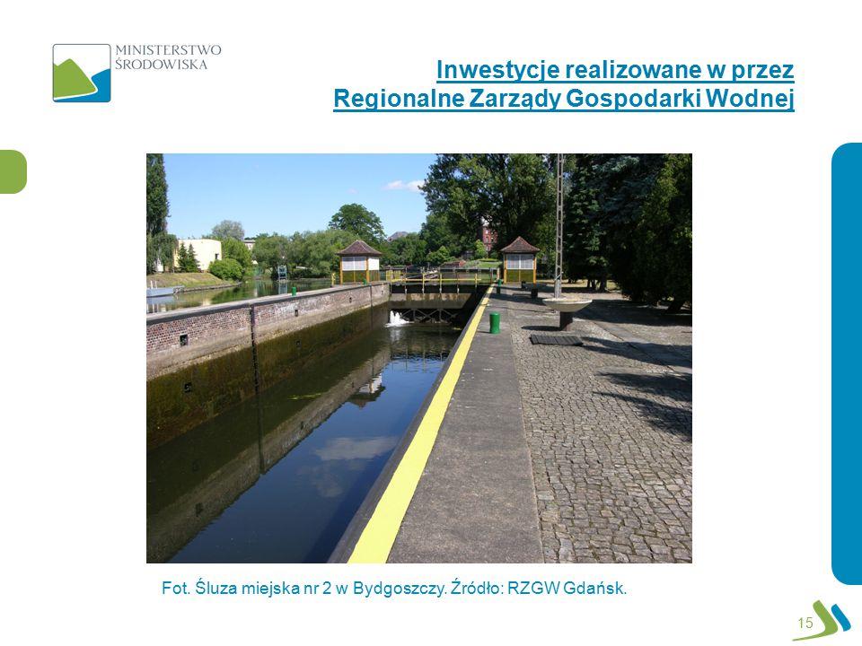 Inwestycje realizowane w przez Regionalne Zarządy Gospodarki Wodnej