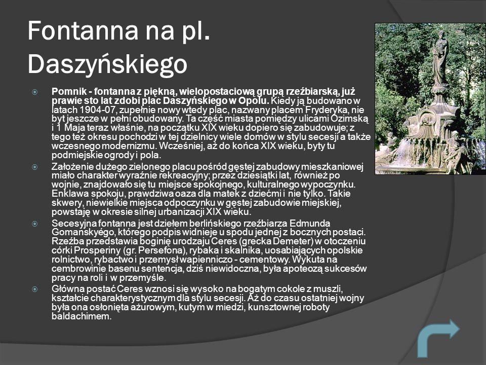 Fontanna na pl. Daszyńskiego
