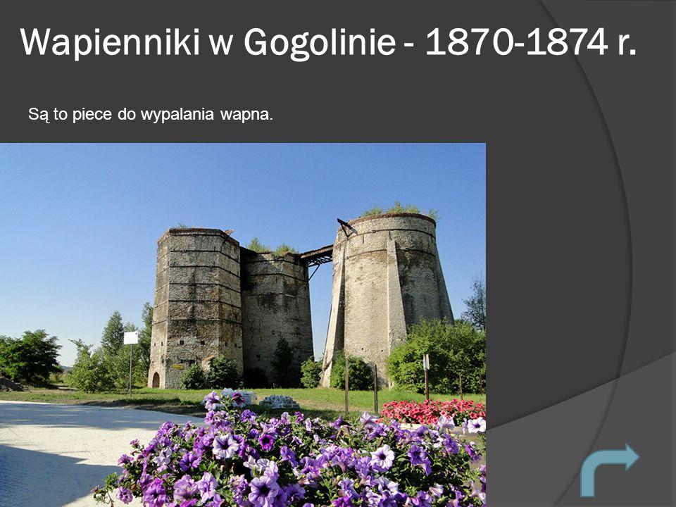 Wapienniki w Gogolinie - 1870-1874 r.