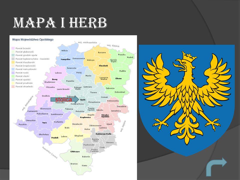 Mapa i herb stolica